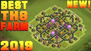 BEST Town hall 8 (TH8) Epic Farming Base 2020!! TH8 Farming Base  Design/Layout - Clash of Clans دیدئو dideo