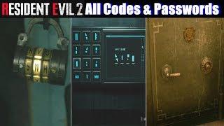 Resident Evil 2 Locker Codes Resident Evil 2 All Codes And