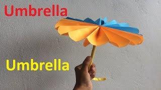 Kids Craft Easy Origami Paper Umbrella DIY Tutorial | 180x320