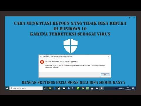 Cara Mengatasi Keygen Coreldraw Yang Tidak Bisa Di Buka Karena Terdeteksi Virus Windows 10 دیدئو Dideo