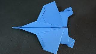 Origami F15 Eagle Jet Fighter Paper Plane NEW DESIGN - Yakomoga ... | 180x320