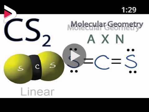Cs2 Molecular Geometry Shape And Bond Angles دیدئو Dideo For each molecule on the worksheet, the lewis dot structure, the number of valence electrons, the electron arrangement (e.a.) and the molecular geometry (m.g.) are given, respectively. cs2 molecular geometry shape and bond