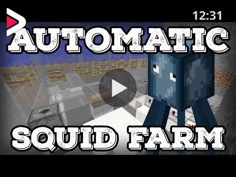 Minecraft Tutorial Automatic Squid Farm Ink Farm Minecraft 1 16 دیدئو Dideo
