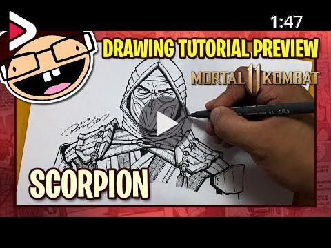 Preview How To Draw Scorpion Mortal Kombat 11 Narrated Easy