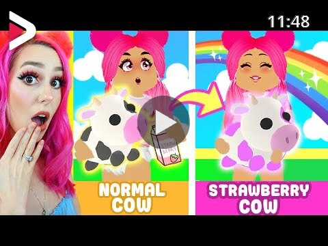 How To Get A Strawberry Cow In Adopt Me Roblox دیدئو Dideo